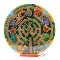 Wholesale Toy Maze Games - Original Muwanzi Magnetic Pen Maze Ball Children Puzzle Game Educational Desk Game Toys Round Retangle Wholesale 2107358
