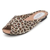 Wholesale Leopard Blue Black Sandal - Wholesale-New 2016 summer shoes woman gladiator sandals leopard peep toe ladies flats slides casual sandalias women shoes eu35-39 KM1270