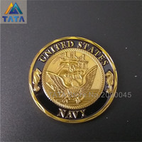 Wholesale Free People Usa - TATA 2016 Free Shipping New Arrival Usa Navy Sailor US Shellback Coins Plating Commemorative Coins Souvenir Coin