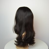 Wholesale Tangle Free Lace Front Wigs - Top quality European hair Jewish Kosher wig straight natural color silk top no dyed tangle free