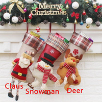 Wholesale Pattern Stockings For Sale - Hot Sale Sedex Audited Factory Wholesale Embroidered Cute Santa Claus Pattern Christmas Stocking for Christmas Decoration