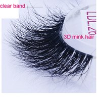 Wholesale Clear Eyelash Band - NEW 3D mink false eyelashes 100% Handmade transparent plastic clear band mink lashes Crisscross Mink Lashes 3d fake eye lashes