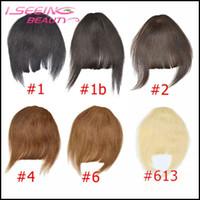 Wholesale Clip Bang Brazilian Hair - 100% Brazilian Virgin Human Hair Bangs 3 Clips in Hair Fringe 25g Straight in 6 Colors choose