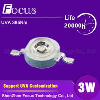 ingrosso perline di potere viola-10pcs LED ad alta potenza 3W UVA 395nm UV viola 45mil Light Beads Disinfezione, sterilizzazione superficiale e sterilizzazione di bellezza