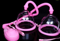 Wholesale Electric Suction Breast Enlargement - Hot Electric Breast Enlarger Breast Enhancer Suction Pump Dual Cup Machine Enlargement Bust Massager Breast Care