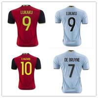 89fe5e897 ... Kit 16 17 Belgium European cup Soccer jersey 2016 2017 LUKAKU home red away  blue FELLAINI E . ...