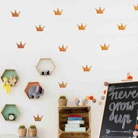 DIY Wall Sticker Mini Princesa Crown Wall Decal para la decoración de las etiquetas del partido Decoración de la pared de la muchacha de los cabritos Color Oro / plata / color de rosa / negro / blanco / gris