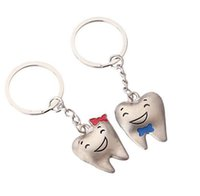 Wholesale Tooth Lover Couple Key Chain - Wholesale CartoonTeeth key chains teeth smile happiness couple key chain