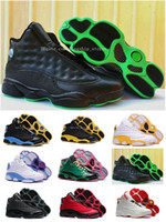Wholesale High Altitude - Altitude Air 13 Retro XIII Mid Cut Mens Basketball Shoes High Quality 13s Black Green DMP PE Away Home CP3 14 Colors Drop Shipping US8-13