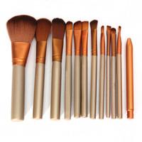 Wholesale E2 Kit - 12pcs Full Set Women Makeup Brush Kit Superior Professional Soft Cosmetic Brushes Face Eyes Blush Brush Set for Women E2