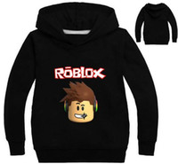 Wholesale Long Sleeve Shirts For Kids - 2017 Autumn Roblox T-shirt For Kids Boys Sweayshirt For Girls Clothing Red Nose Day Costume Hoodied Sweatshirt Long Sleeve Tees