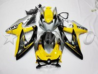 Wholesale Gsxr Black Yellow - New Injection ABS Fairing kit For SUZUKI GSXR600 GSXR750 08 09 10 R600 R750 K8 GSX-R600 GSXR 600 750 2008 2009 2010 yellow black silver nice