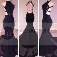 Wholesale Cheap Special Occasion Gowns - Cheap Black African Prom Dresses 2017 Long Mermaid Arabic Evening Dress Backless Special Occasion Celebrity Party Gowns Free Shipping