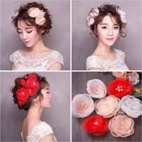 Wholesale Hands Hair Accessories - Woman headdress hair Lomen bride hand pyrographic stereo flower flower head hair suit super fairy wedding photography accessories 154077