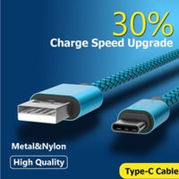 Wholesale Nylon Cable Charge 2m - 1M 1.5M 2M Type C and Micro USB Fast Charging Data Sync Braided Nylon Cable Cord for Android Phone