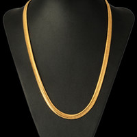 Wholesale Chunky Snake Chain Necklace - Brand 4.5mm5.5mm6.5mm Chunky Big Statement Necklace Long Choker Trendy Hip Hop 18kGold Plated Chain For Men Jewelry