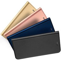 Wholesale Iphone Flip Case Color - luxury wallet phone case for iphone7 iphone 7 6 6s plus galaxy S8 XZ 1 plus 3 LG v20 P10 p9 smooth skin feeling flip case 4 color DHL GSZ305