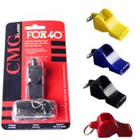 Wholesale Plastic Fox - FOX40 Whistle Plastic FOX 40 Soccer Football Basketball Hockey Baseball Sports Classic Referee Whistle Survival Outdoor Sports