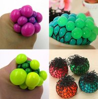 Squishy bola de malla Squeeze Stressball Yuch Color Party Bag Diversión bola de estrés Anti Stress Uva Autismo Mood Relief juguetes saludables