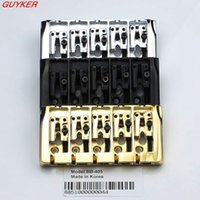Wholesale Loaded Bass - 5-String Bass Bridge BB 405 w Locking Zinc Saddles Dual Load 19mm Sung-il Produced in Korea