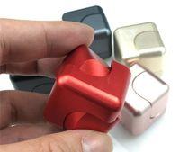 Wholesale Square Blocks Toy - Metal Fidget Cube Square Metal Fidget Spinner Blocks Alloy Hand Spinner Anti Stress Newest Fidget Toys Colorfull Finger Cube