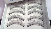 Wholesale Model Strips - Hand-made False eyelashes 100pairs  lot (10pairs=1 box) 2 models( natural and thick for choose) Free