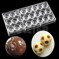 Wholesale Football Mold - DIY 3D Football shape chocolate mold Food grade polycarbonate chocolate mould baking candy pastry tools for cakes
