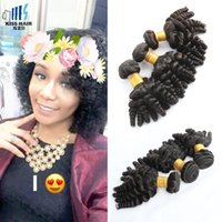 Wholesale Cheap Unprocessed Curly Human Hair - 3 Pcs Loose Curly Human Hair Extensions Brazilian Bouncy Curly Funmi Hair Weave Cheap Brazilian Unprocessed Human Hair Bundles