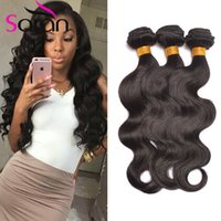 Wholesale Girl Young Hot - Hot Beauty Hair Products 7A Indian Virgin Remy Hair Body Wave 3pcs Lot One Donor Young Girl Human Hair Free Shipping