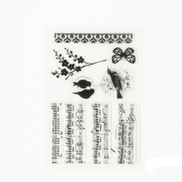 Wholesale Stamping Scrapbook - Wholesale- 1 Pcs Transparent Rubber Standard Stamp for Note the bird Decorative Clear Stamps for Scrapbook DIY Scrapbooking.