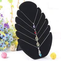 Wholesale Velvet Case Jewelry Holder - Fashion Necklace Stand Jewelry Pendants Holder Display Earring Case Jewelry Decoration Organizer Display Showcase Frame