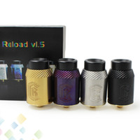 Wholesale Rebuildable Atomizer Dhl - Newest Reload V1.5 RDA Rebuildable Dripping Atomizers 4 Colors PEEK Insulator With Wide Bore Drip Tip Fit 510 E Cigarette DHL Free
