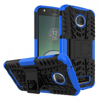 Wholesale Armor Hybrid Shock Proof - Rugged Armor Heavy Duty Cell Phone Hybrid Kickstand Case For Motorola Moto E4 Z Z2 Play G5 Plus M Cover Skin Shock Proof