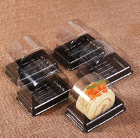 Wholesale plastic sushi resale online - 135 mm Plastic Clear Disposable Cake Box Single Individual Swiss Cake Boxes Food Dessert Packaging