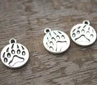 Wholesale bear paw charms for sale - 20pcs Bear Claw Charms Antique Tibetan silver Bear Paw charm pendants x15mm