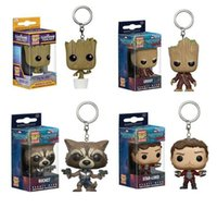 Wholesale Bobble Heads Funko - Funko Pop War Guardians of the Galaxy Dancing Groot Bobble Head Keychain Super Natural Join the Hunt Dean Castiel Pocket Pop Toy