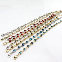 Wholesale Romantic Fashion Trend - New style candy color anklet fashion trend bracelet flashing gem anklet 7 color mixed wholesale free shipping