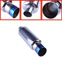 Wholesale Exhaust Tips Silencers - High Quality Car Universal Fit Muffler Exhaust Polished Stainless Steel W burnt Tip and Silencer 2.0