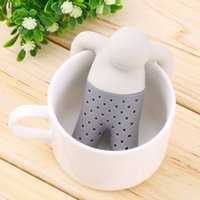 Wholesale Wholesale For Kitchenware - Cute Practical Tea Infuser Pure Soft Silicone Rubber Loose Tea Leaf Strainer Herbal Spice Filter Diffuser For Kitchenware Gadget