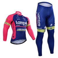 Wholesale Merida Winter Thermal - Pro team Lampre cycling jersey Maillot ciclismo Merida winter thermal fleece cycling clothing ropa ciclismo long sleeve bike clothing