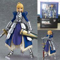 Wholesale Night Knight - Anime Fate stay night Figma227 Bru Zero Saber Knight girl Arthur PVC Figurine Collection Model Toys Dolls 14 cm