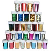 diy kağıt sanatları toptan satış-233 Seçenekleri Nail Art Transferi Folyo Etiket Kağıt DIY Güzellik Lehçe Tasarım Şık Tırnak Dekorasyon Araçları