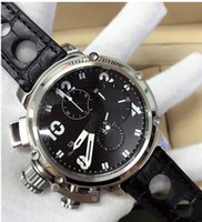 Wholesale Chronograph Watch Cheap - Chronograph quartz movement Men's Fashion cheap watch leather strap different colors watches