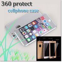 Wholesale Iphone Case 13 - Cheap price shockproof armor PC case 360 degree protector with 9H tempered glass screen protect with 13 colors for iphone7 iphone 7plus