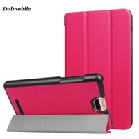DOLMOBILE Slim Carpeta de tres carpetas para 2017 Acer Iconia TalkS A1-734 Carcasa de tapa de la tableta PU Leather Flip Cases + Stylus Pen
