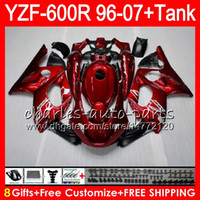 Wholesale Fairings For Yamaha - 8Gift 23Color For YAMAHA Thundercat YZF600R 96 97 98 99 00 01 53NO2 Pearl red YZF 600R YZF-600R 1996 1997 1998 1999 2000 2001 Fairing kit