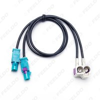 Wholesale Oem Vw Radio - FEELDO OEM for VW RNS510(MFD3) RCD510 310 Radio Antenna Adapter 2 to 2 Conversion Cable For Jetta Golf MK5 MK6 Passat B6 B7 Tiguan #3937