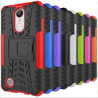 Wholesale Pink Tyre - For Iphone8 Iphone X 8 7 Plus LG Stylo 3 Aristo Metropcs LV3 V3 Stand Hybrid Case TPU PC Hard Armor Camo Tire Tyre Shockproof Cover 5pcs