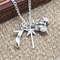 Wholesale Inspire Charms - 12pcs lot Cinderella Inspired Charm Necklace fairy tale high heel charm Necklace