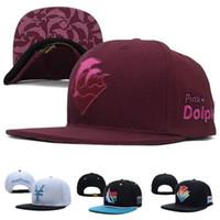 Wholesale Dolphin Snapbacks - Hot Pink Dolphin Corduroy Olympic Waves Zebra Tidal Snapback Caps & Hats Snapbacks Men Women Leopard Baseball Cap